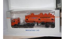 КАМАЗ-54112 с полуприцепом НЕФАЗ-96742,SSM, масштабная модель, 1:43, 1/43