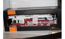 Smeal 105 Rear Mount Ladder Charlotte Fire Department,IXO Последний, масштабная модель, Smeat, 1:43, 1/43