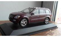 MERCEDES BENZ GL-KLASSE X164 масштаб  1:43 MINICHAMPS бордовый, масштабная модель, 1/43, Mercedes-Benz