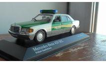 Mercedes-Benz 420 SEL 1991 POLIZEI, масштабная модель, scale43, Minichamps