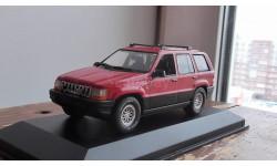 JEEP Grand Cherokee, red metallic Minichamps 1:43, масштабная модель, 1/43