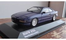 BMW 8-Series  Minichamps 1991 Blue metallic, масштабная модель, 1:43, 1/43