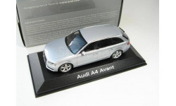 AUDI A4 Avant silver 2008 г., масштабная модель, 1:43, 1/43, Minichamps
