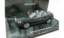 Bentley Continental GTC Convertible 2011 Green, масштабная модель, scale43, Minichamps