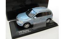 VW TOUAREG Light Blue 2006 г., масштабная модель, scale43, Minichamps, Volkswagen