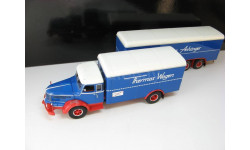Krupp Titan фургон с прицепом blue/red 1950 lim. 300 pcs.