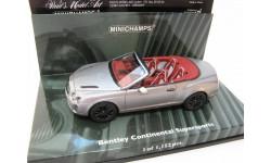 BENTLEY CONTINENTAL SUPERSPORTS Cabriolet 2010 GREY METALLIC, масштабная модель, 1:43, 1/43, Minichamps