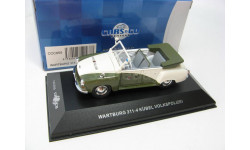 WARTBURG 311-4 KUBEL 'VOLKSPOLIZEI' (White and Green) 1957, масштабная модель, 1:43, 1/43, CARS&CO