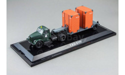 ГАЗ-51П (зеленый) + Т-213 полуприцеп (т. серый) Последний!, масштабная модель, DiP Models, scale43