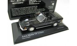 ASTON MARTIN V8 CABRIOLET 1987 BLACK, масштабная модель, 1:43, 1/43, Minichamps