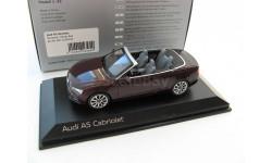 Audi A5 Cabriolet shiraz red 2011 г., масштабная модель, 1:43, 1/43, Norev