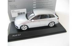 Audi Q7 foil silver 2015 г., масштабная модель, Spark, scale43