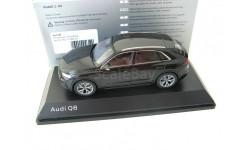 Audi Q8 orca black, масштабная модель, Norev, scale43