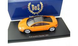 AUDI Quattro Spyder Concept Car IAA Frankfurt 1991 Orange, масштабная модель, Best оf Show, scale43