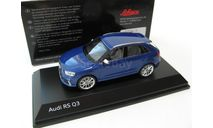 Audi RS Q3 Sepang blue, масштабная модель, SCHUCO, scale43