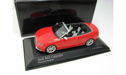 Audi RS5 Cabriolet Red 2012 г., масштабная модель, 1:43, 1/43, Minichamps