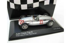 Auto Union Typ D Winner GP Italy 1938 Tazio Nuvolari, масштабная модель, 1:43, 1/43, Minichamps, Audi