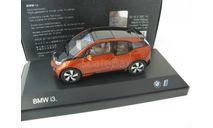 BMW i3 (i01) Construction 2013 solar orange, масштабная модель, 1:43, 1/43, iScale
