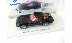 Chevrolet Corvette C2 Sting Ray 1964 black, масштабная модель, 1:43, 1/43, Spark
