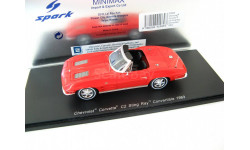 Chevrolet Corvette C2 Sting Ray Convertible 1963 red, масштабная модель, Spark, scale43