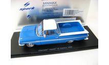 Chevrolet Impala El Camino 1959 white/blue, масштабная модель, Spark, scale43