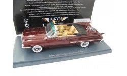 Chrysler 300F Convertible dark red metallic 1960 г., масштабная модель, 1:43, 1/43, Neo Scale Models
