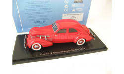 CORD 812 Supercharged Sedan 1937 Red, масштабная модель, Neo Scale Models, scale43