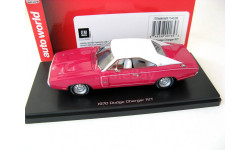 Dodge Charger R/T 1970 pink/white, масштабная модель, 1:43, 1/43, ERTL (Auto World)