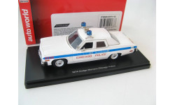 Dodge Monaco Chicago Police 1974 г., масштабная модель, 1:43, 1/43, ERTL (Auto World)