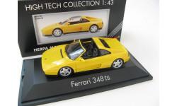 Ferrari 348 TS Targa 1985-1995 yellow, масштабная модель, 1:43, 1/43, HERPA