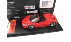 Ferrari 458 Spyder 2012 red corsa, масштабная модель, FUJIMI, scale43