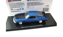 FORD Mustang Boss 302 1969 Acapulco Blue Metallic, масштабная модель, Highway 61, scale43