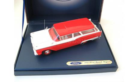 Ford Ranch Wagon 1959 Red/White, масштабная модель, MotorHead, scale43