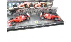Formula 1 Ferrari F2001 Constructors Champions Box RARE!, масштабная модель, 1:43, 1/43, Mattel Hot Wheels