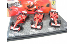 Formula 1 Set Ferrari F2000, F2001, F2002 RARE!, масштабная модель, 1:43, 1/43, Mattel Hot Wheels