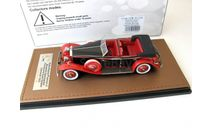 Rolls-Royce Phantom II Brewster Newmarket Permanent Sport Sedan Cabriolet open 1932 black/red, масштабная модель, scale43, GLM