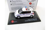 SUZUKI SWIFT 'Melbourne Police' (полиция Мельбурна Австралия) 2010 г., масштабная модель, J-Collection, scale43