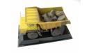 БеЛАЗ-540А самосвал карьерный желтый со следами эксплуатации, масштабная модель, scale43, Start Scale Models (SSM)