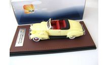 Cadillac V16 Convertible coupe Open Top 1938 cream yellow, масштабная модель, scale43, GLM
