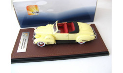 Cadillac V16 Convertible coupe Open Top 1938 cream yellow