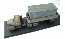 КрАЗ-258Б1 седельный тягач с п/п МАЗ-5215 со следами эксплуатации, масштабная модель, 1:43, 1/43, Start Scale Models (SSM)