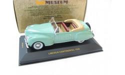 LINCOLN CONTINENTAL Green with Beige interiors 1939 г. Редкая Музейка!, масштабная модель, 1:43, 1/43, IXO Museum (серия MUS)