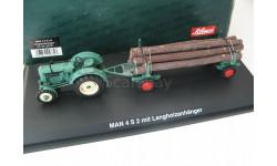MAN 4 S2 mit 'Langholzanhanger'. Редкий Шуко!, масштабная модель, 1:43, 1/43, SCHUCO