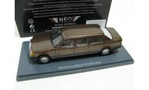 Mercedes-Benz 250 D Lang (V124) brown/grey metallic, масштабная модель, 1:43, 1/43, Neo Scale Models