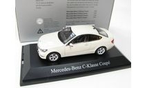 Mercedes-Benz C-Class coupe diamond white, масштабная модель, 1:43, 1/43, Norev