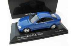 Mercedes-Benz CLK-Class Coupe 2002 blue metallic, масштабная модель, 1:43, 1/43, Minichamps