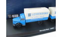 Mercedes-Benz L6600 mit Zweiachs-Anhanger 'Lowenbrau'. Редкий Шуко!, масштабная модель, scale43, Schuco