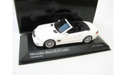 Mercedes-Benz SL55 AMG Convertible white 2007 г., масштабная модель, 1:43, 1/43, Minichamps