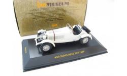 MERCEDES-Benz SSK White 1928 г. Редкая Музейка!, масштабная модель, 1:43, 1/43, IXO Museum (серия MUS)