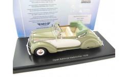 Opel Admiral Hebmuller Convertible olive/beige 1938 г., масштабная модель, 1:43, 1/43, Neo Scale Models